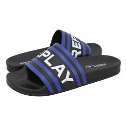 Replay férfi papucs RF1A0007S Black-blue